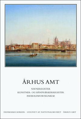 Foto af den trykte udgave af Danmarks Kirker Århus Amt: Navneregister, kunster- og håndværkerregister. Bogen koster 175 kr. og kan købes i Museumsbutikken eller bestilles i din lokale boghandler.