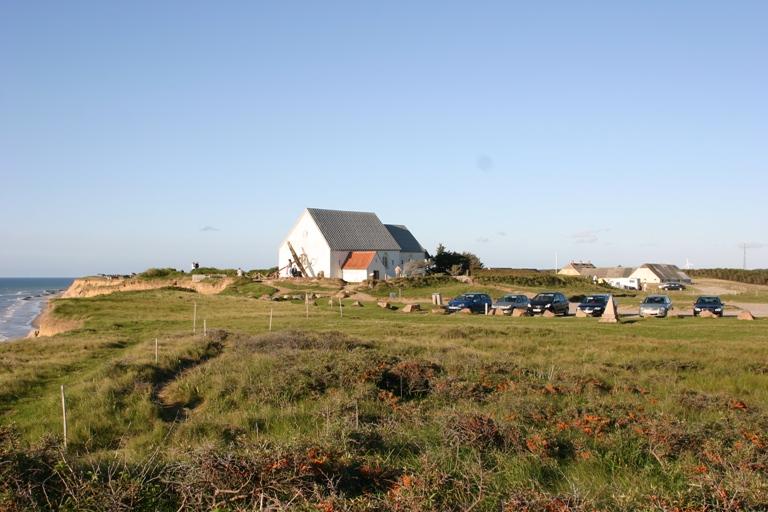 Mårup Kirke før nedrivningen i 2008