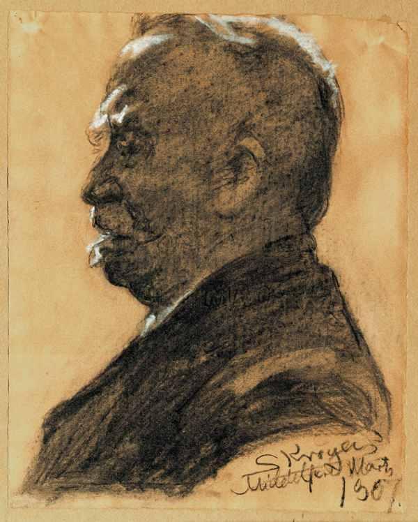 P. S. Krøyer, Overlæge Frederik Lange, 1907, Psyk. Samling, Middelfart Museum