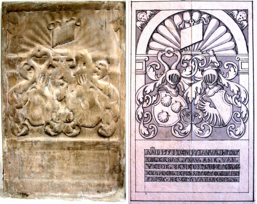 Anna van Ahlefeldts gravsten o. 1550