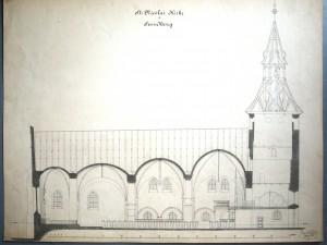 H. Wandalls længdesnit fra 1886.